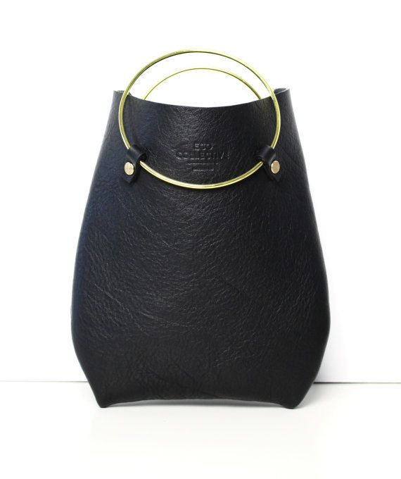 Leather Purse Handbag Statement Bag the by EcoCollectiveAus