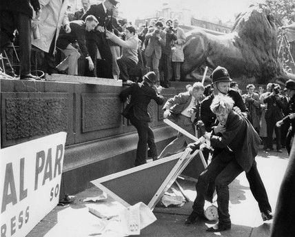 Bob Collins Clashes At A Mosley Riot In Trafalgar Square Between Supporters Protestors