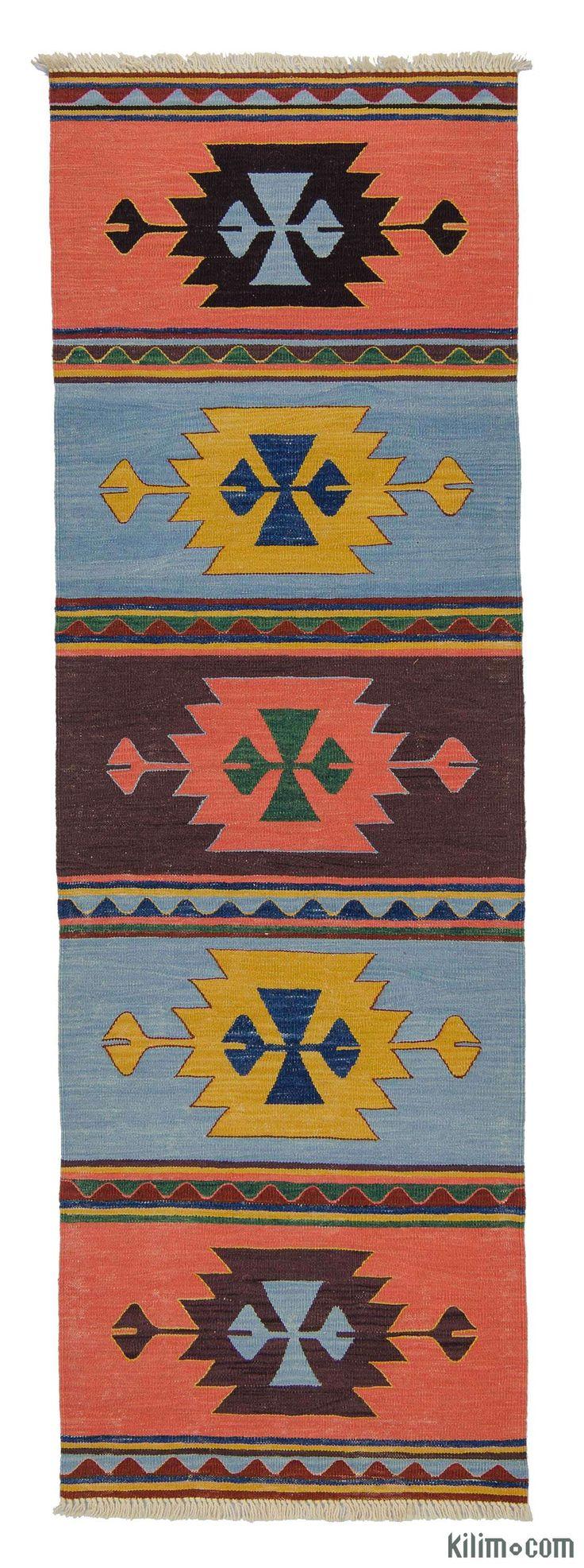 K0007972 New Turkish Kilim Runner | Kilim Rugs, Overdyed Vintage Rugs, Hand-made Turkish Rugs, Patchwork Carpets by Kilim.com