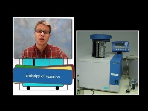 Calorimetry: n this video Paul Andersen describes the history of calorimetry and explains how it can be used to measure energy changes in a system. The specific heat of water is well established and so as a system releases or absorbs energy from a surrounding water bath it can be measured. Calorimeters can be used to measure the specific heat capacity of a substance as well as the enthalpy of fusion, vaporization, and reaction.