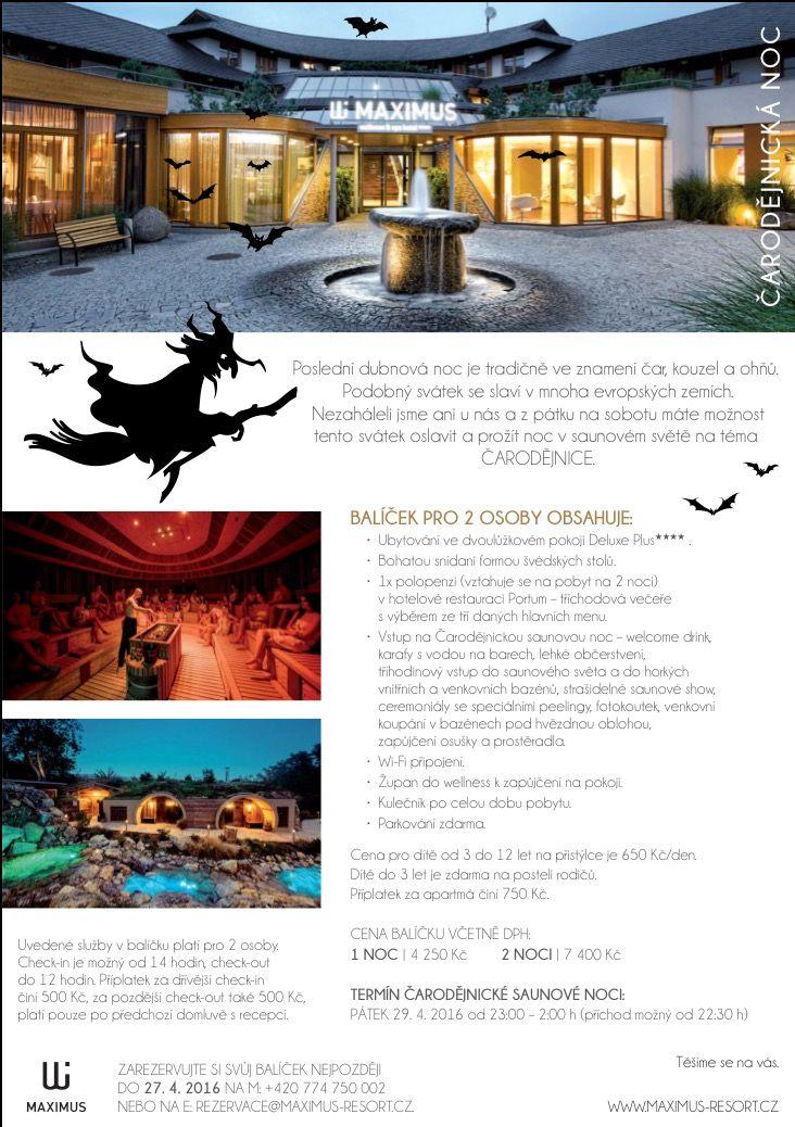 Čarodějnická noc už brzy v Maximus Resort!  Přijďte s námi zažít něco neobvyklého.