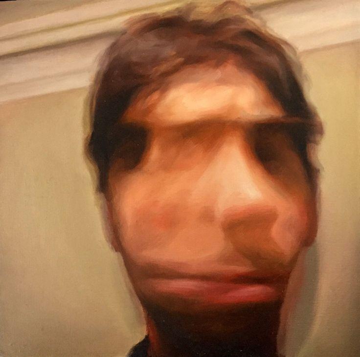 James Bonnici, Self Portrait 20 x 20 cm, oil on linen, available