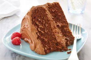 Chocolate Fudge Layer Cake - *Ensure all recipe ingredients are gluten free by referencing the ingredient labels, as products may vary. If uncertain, contact the ingredient manufacturer.
