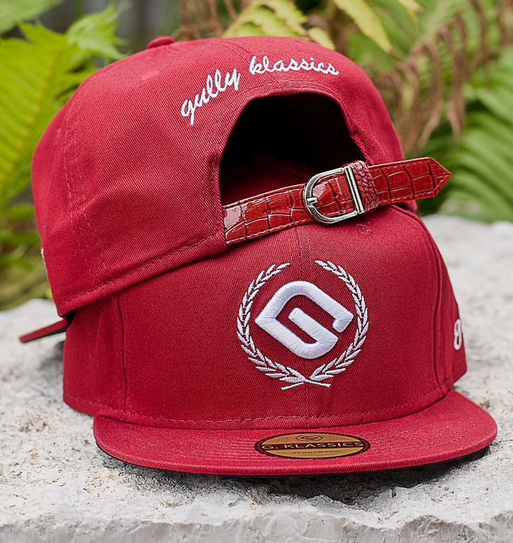 Red Buckle Back Cap