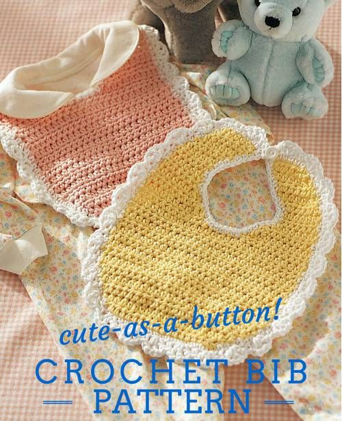100+ New Free Crochet Patterns - Crochet Bib Pattern