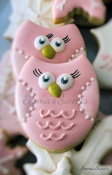 Owls sugar cookies.