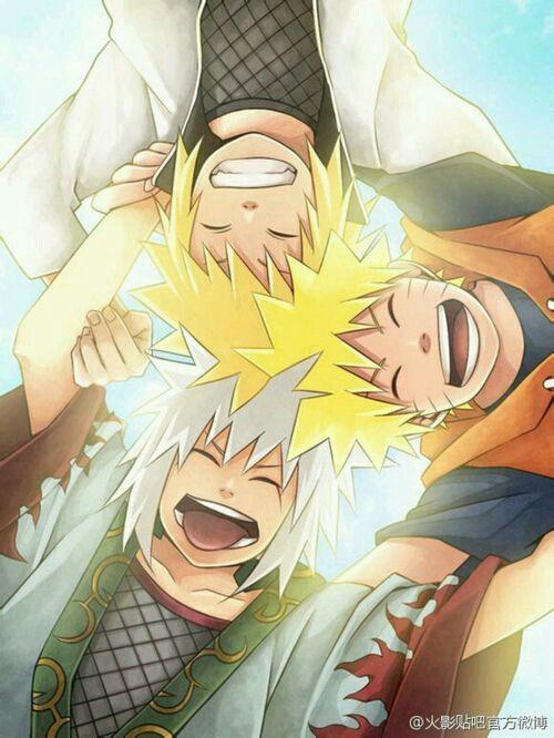 Jiraiya, Minato and Naruto