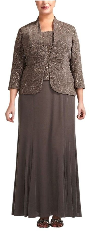 Jeanne Alexander Stone 3/4 Sleeve Long Jacquard Jacket Style 6525206 Dress. Free shipping and guaranteed authenticity on Jeanne Alexander Stone 3/4 Sleeve Long Jacquard Jacket Style 6525206 Dress at Tradesy. Two piece dress and jacket. Color is called stone,...