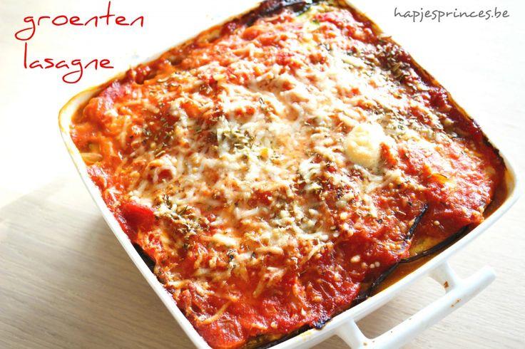 Lasagne met gegrilde groenten en ricotta zonder pasta