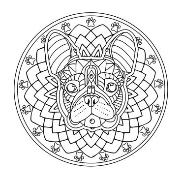 The French Bulldog Is Most Shared Image From Upcoming Decorative Dogs Coloring Book PagesColoring