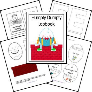 Free Humpty Dumpty Lapbook from @Dominic Street Brainerd