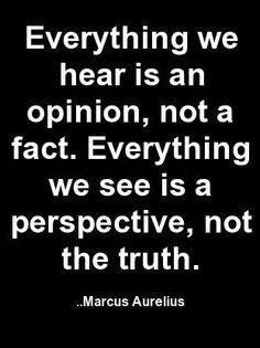 This is something important to come back to. At the same time with different perspectives it is important not to underestimate points of view. Most times it's much more than just a point of view