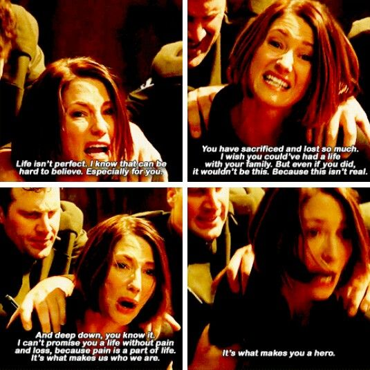 """""""I can't promise you a life without pain and loss, because pain is a part of life. It's what makes us who we are. It's what makes you a hero"""" - Alex Danvers #Supergirl"""