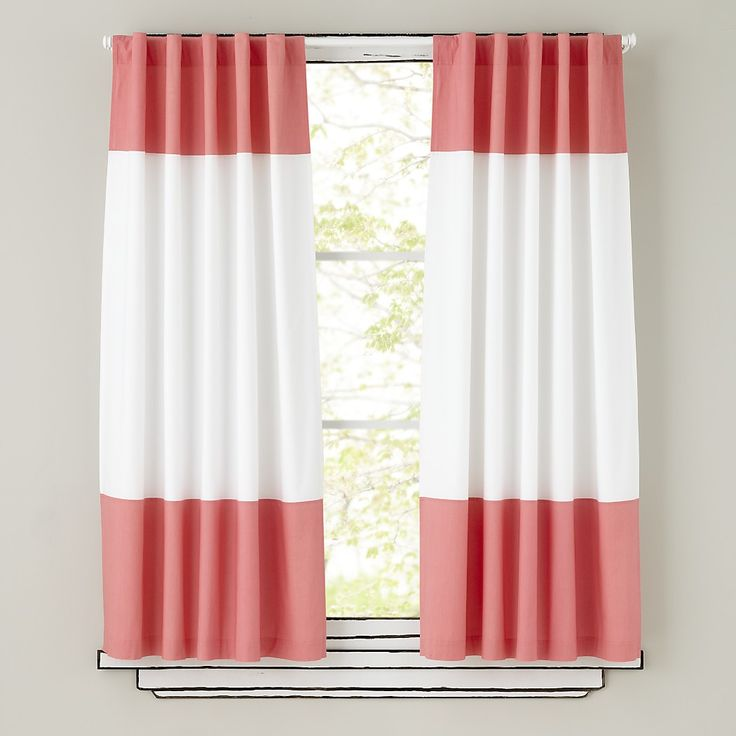 Curtains_ColorBlock_PINK land of nod