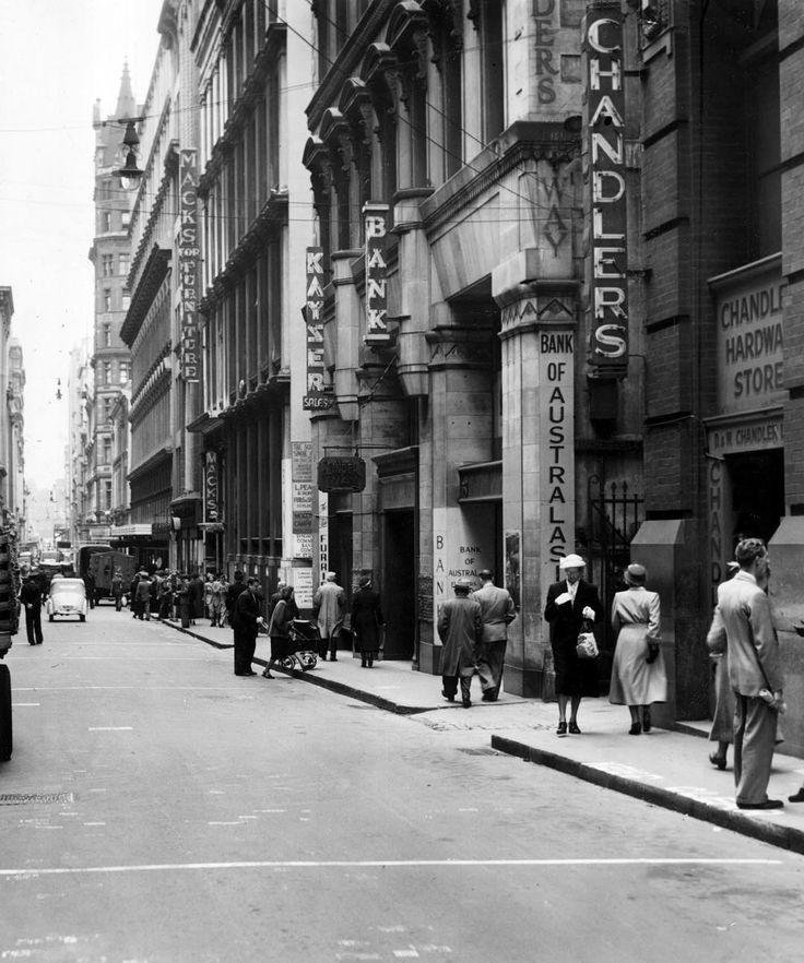 1951. Flinders Lane, Melbourne. .