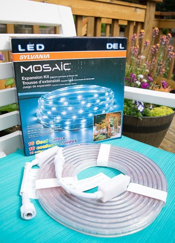 These LED outdoor rope lights are available with expansion kits to extend the reach another 16 feet!