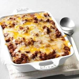 Spaghetti Pie Casserole Recipe | Taste of Home Recipes