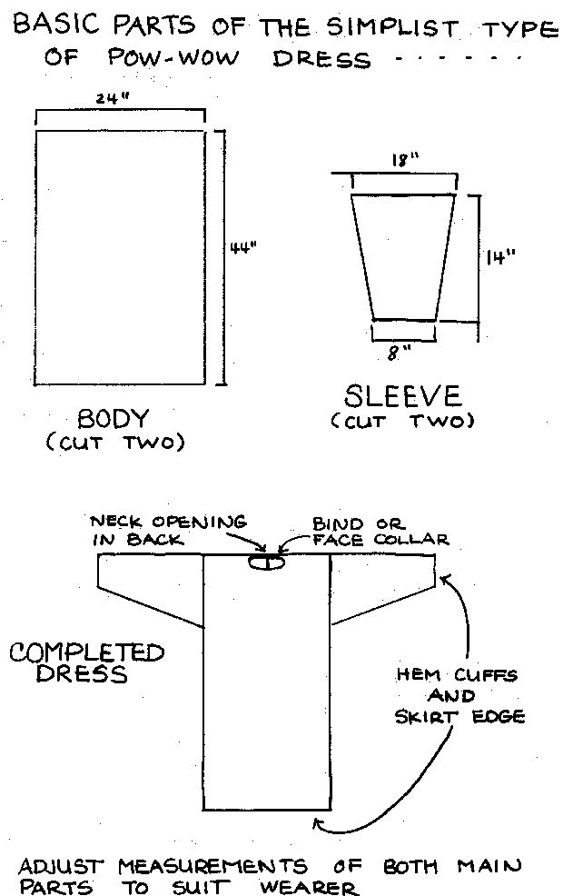 Simple Pow Wow Dress Pattern
