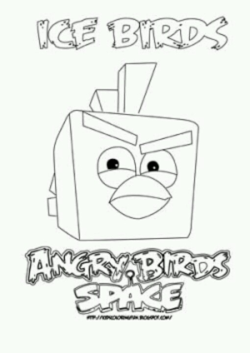 Angry Birds Space Coloring Book