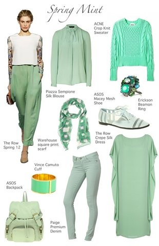 Мятный цвет: Colour, Fashion Sen, Mint Green, Fashionista, Favorite Colors, Seasons, As Of Spring, Fashion Hair Makeup