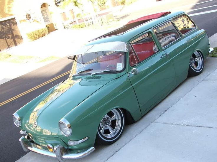 VW Squareback. This is pretty much exactly how I'd do mine. Maybe a different color, but I love the driving lights, visor, sunroof, the lowered chassis. Love it.