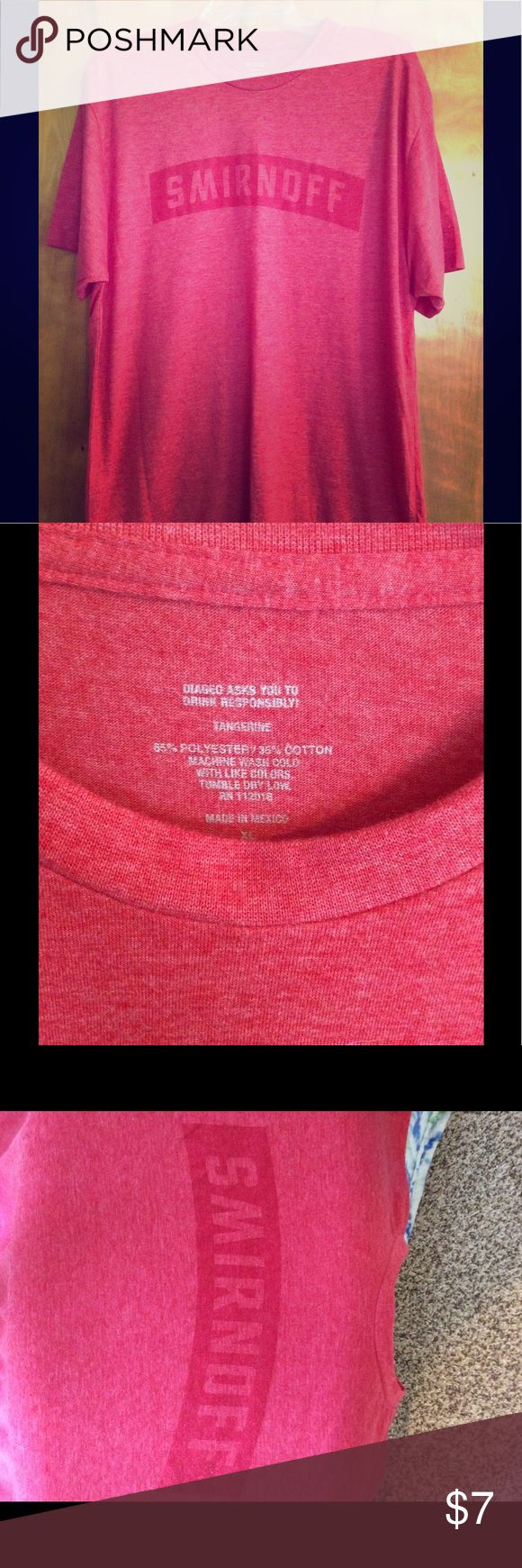 Smirnoff XL soft tshirt new Brand new liquor brand Smirnoff red super soft t shirt XL smirnoff Tops Tees - Short Sleeve
