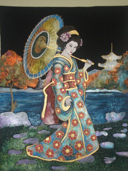 japonesa pana y pirograbado