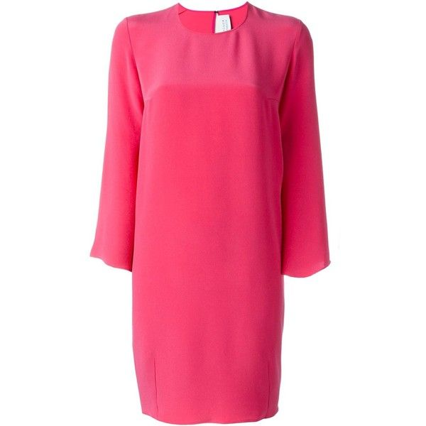 Gianluca Capannolo trumpet sleeve oversized dress (56.655 RUB) ❤ liked on Polyvore featuring dresses, pink, sleeved dresses, trumpet dress, fuschia pink dress, fuchsia pink dress and fuchsia dresses