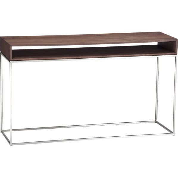 Frame Console Table In Tables Crate And Barrel Behind