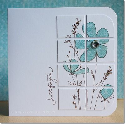 I like cutting up the stamped image, and this is paper pieced.                                                                                                                                                                                 More