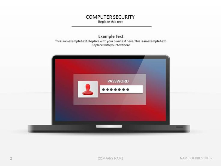 Here's a computer security PowerPoint slide template. #presentation #presentationdesign
