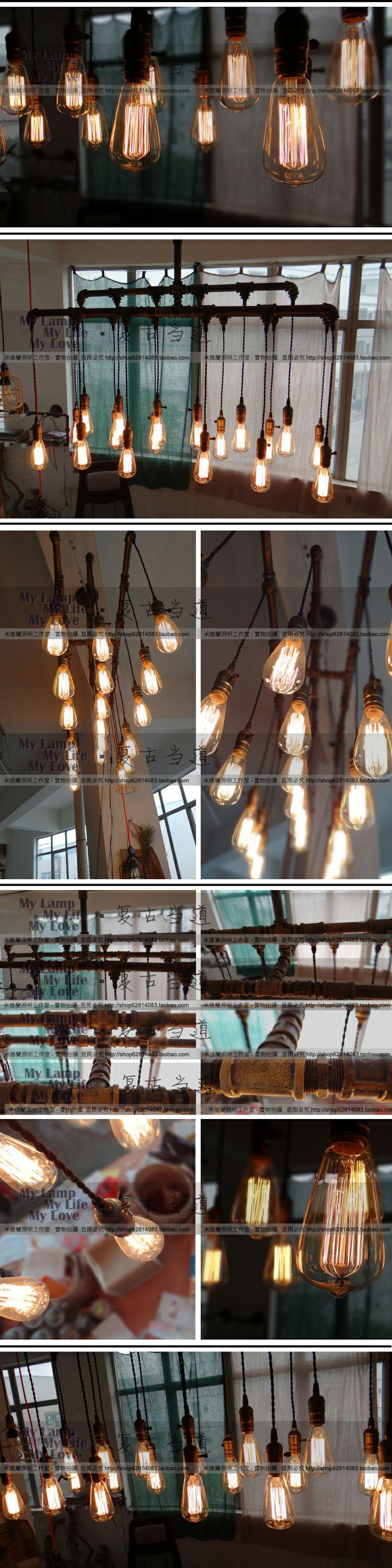 31 best lighting images on pinterest light fixtures pendant february 20 edison bulbs shipped e27 retro punk style iron pipes loft chandelier lamp arubaitofo Image collections