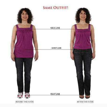 Mesma roupa + proporção correta = silhueta valorizada