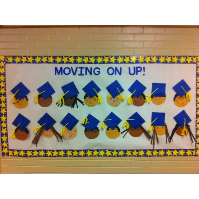Moving On Up! Graduation Bulletin Board idea
