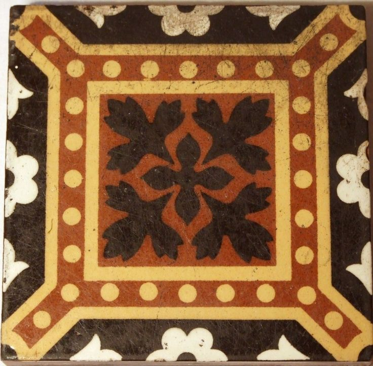 The Godwin tile company of Lugwardine was among the more notable English makers of encaustic floor tiles and many of their tiles were used in churches and public buildings in the mid to late 1800s. William and his younger brother Henry began manufacturing encaustic tiles at Lugwardine, Hereford in 1852  .#JORGENCA