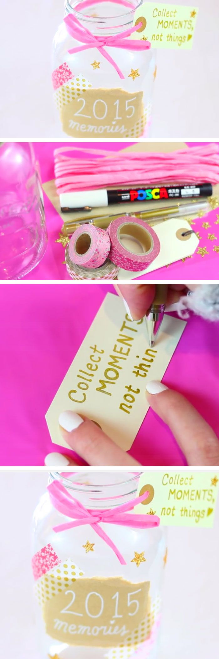 Collect memories,  not things  DIY Memory Jar |  33 DIY Christmas Gift Ideas for Friends