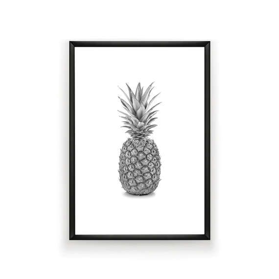 Pineapple Print Tropical Printable Pineapple Art Pineapple