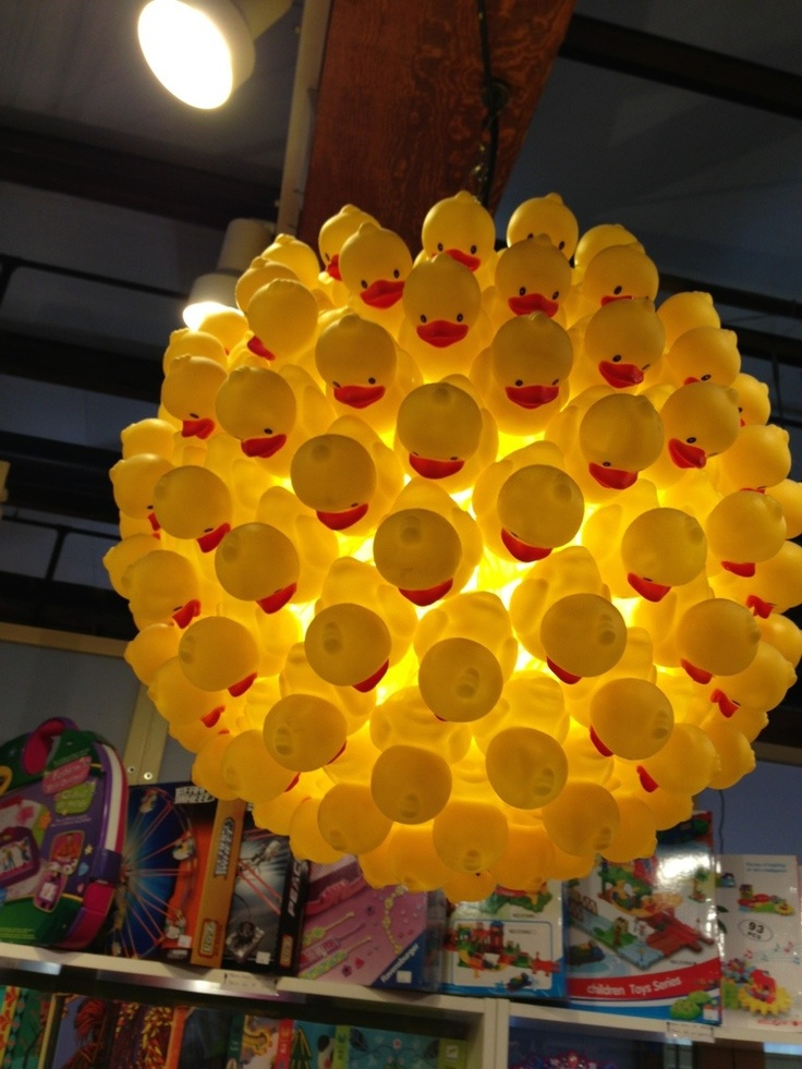 Amazing Rubber Duck Lantern   At toystore in Granville Market (KIds Building) Vancouver B.C. Canada