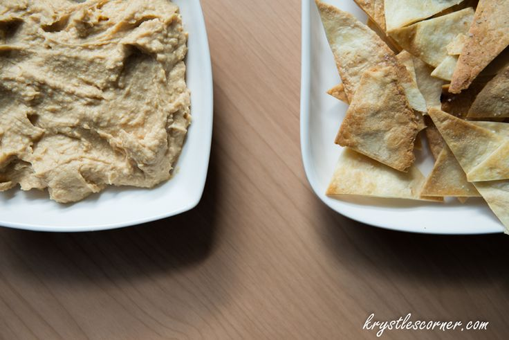Hummus and home made healthy chips Blog — Krystle's Corner