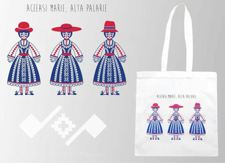 Aceeasi Marie, alta palarie!  Romanian inspiration design;  Printed cotton bag;  https://m.facebook.com/beeboo814?_rdr#!/design.cu.origini.populare