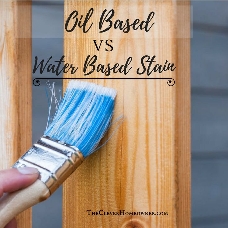 Is water based stain better than oil based stain? What's even the difference? The number one and easiest way to tell an oil based vs water based stain is to