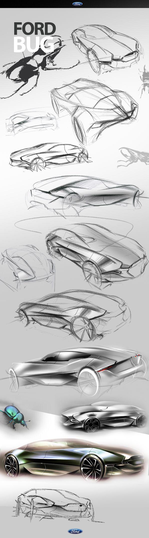 FORD BUG Concept by Jason Chen, via Behance