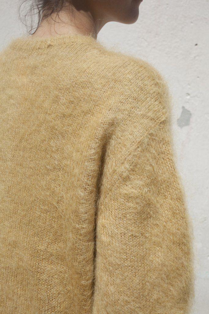 Trademark Full Sleeve Mohair Sweater in Camel | Oroboro Store | Brooklyn, New…