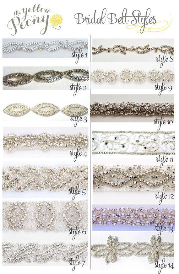 Custom Bridal Belt or Wedding Dress Sash, Rhinestone belt, Diamond wedding belt