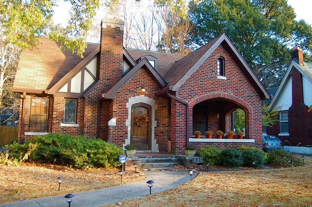 craftsman brick cottage - Google Search