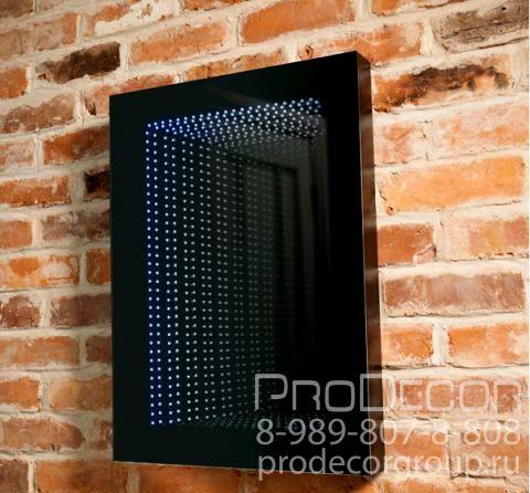 """Одним из новых способов оформления светодиодами стало украшение так называемыми """"бесконечными зеркалами"""". Посмотрите на пример фотографий бесконечного зеркала, это могут быть настенные панно, потолочные светильники или оригинальные столешницы. Глядя на такое светодиодное украшение интерьера  кажется, что у него нет задней стенки и за стеклом бесконечная глубина.  Заказать зеркало INFINITY можно по телефону: 8-989-807-8-808 Доставка по России любым удобным для вас способом! #ProDecor…"""