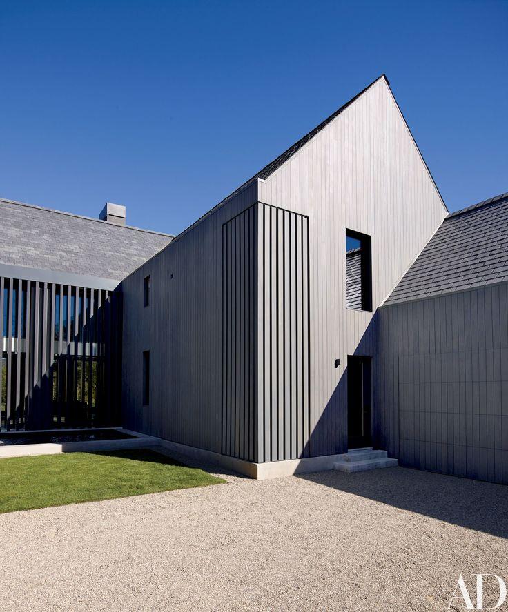 modern barn, grey cedar clad exterior, by Mark Rios