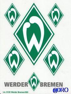 6 Aufkleber + Auto + WERDER BREMEN + Grün + Waschanlagensicher + ...
