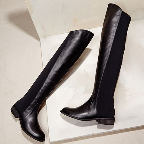 Black riding boots go ANYWHERE with nearly ANYTHING! This is an investment piece ladies!  Nordstrom Rack Online & In Store: Shop Dresses, Shoes, Handbags, Jewelry & More