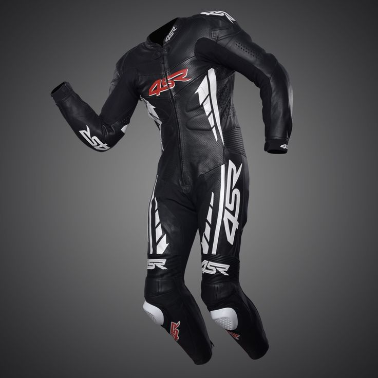 4SR one-piece suit - Racing Replica Black